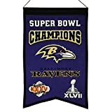 NFL Baltimore Ravens Super Bowl Champions Banner, One Size, Multicolor