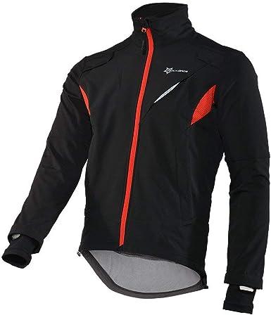 RockBros Cycling Jersey Fleece Thermal Warm Windproof Jacket Bike Coat Black