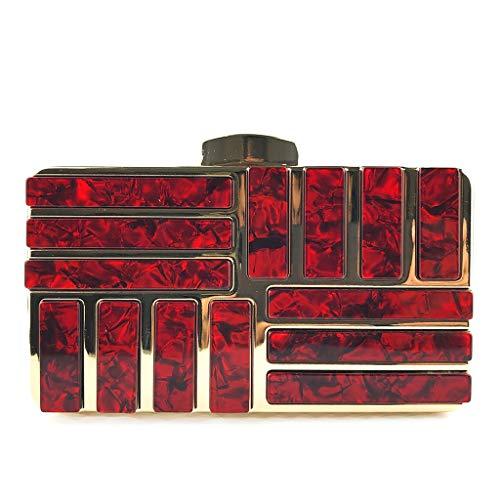 Main Sac Size Cocktail 4 Taille Acrylique Fête Red1 Des De 1 Pouce couleur 69 À Embrayage One Femmes Couture Accessoires 96 33 Red 6 Banquet qXEwgI