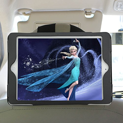 Car Headrest Mount Mounting Holder for iPad 5 iPad Air Protect Case Black 9.7 inch