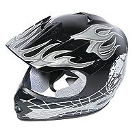 XFMT Youth Kids Motocross Offroad Street Dirt Bike Helmet Goggles Gloves Atv Mx Helmet Black Skull L from XFMT