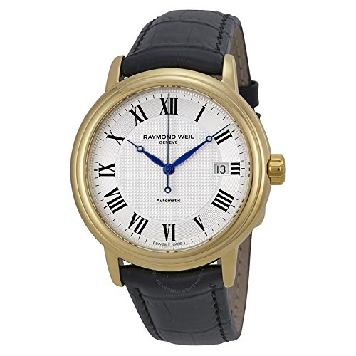 Raymond Weil Reloj Analógico para Hombre de Automático con Correa en Cuero 2837-PC-00659: Amazon.es: Relojes