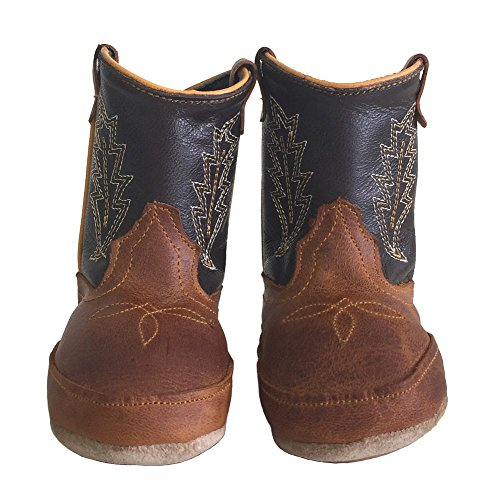 Baby Infant Toddler Cowboy Boots Genuine Leather Western Embroider Coffee, 3