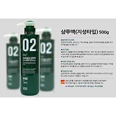 amorepacific Amos Scalp Feel The Green Tea Champú for oily, fabricado en Corea, kstyle, anti Hair Caso 500g