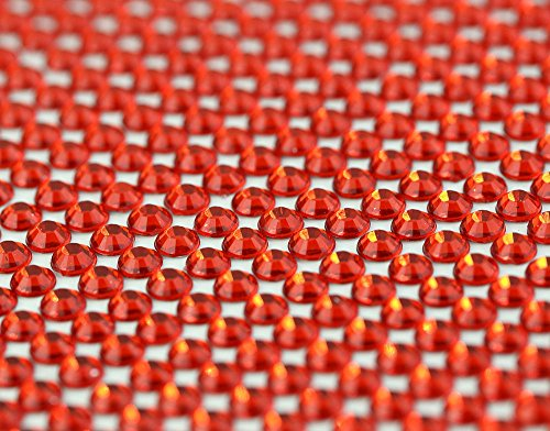 CraftbuddyUS 1500 Bulk Sheet of 5mm Self Adhesive Red Stick on Rhinestone Gems Craft