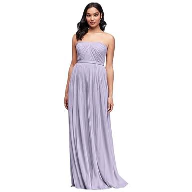 64e2de19afd8 David's Bridal Long Mesh Style-Your-Way 6 Tie Bridesmaid Dress Style F19515,