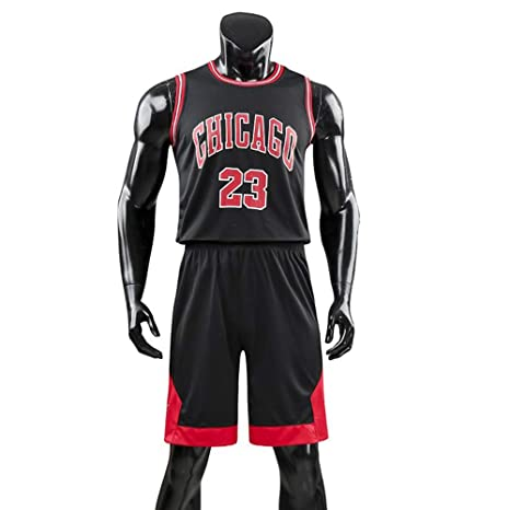 more photos 9e2f5 f4c5b DEBND Men's and Unisex Basketball T-Shirt - Summer Basketball Uniform NBA  Michael Jordan #23 Chicago Bulls Fan Edition #Jersey - Classic Sleeveless  ...