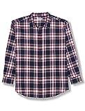 Amazon Essentials Men's Big & Tall Long-Sleeve Plaid Flannel Shirt, Red/White/Blue, 2X Tall