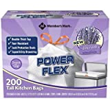 Members Mark 13 gal Power Flex, Leak Protection, Tall Kitchen Simple Fit Drawstring Bags (1-Pack, Lavender Scent)