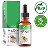 Organic Hemp Oil Extract for Dogs & Cats - 250MG - Helps Relief Joint Pain - Anxiety & Hips Pain for Dog & Cat. Pets Calming Treats. Zero THC - Colorado Hemp Oil Extract - Natural Arthritis Supplement.