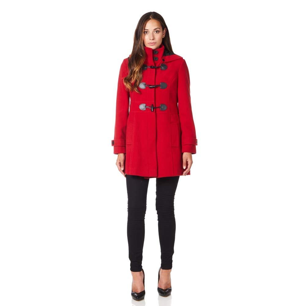 De La Creme Wool Cashmere Womens Hooded Zip Fastening Winter Coat 1812
