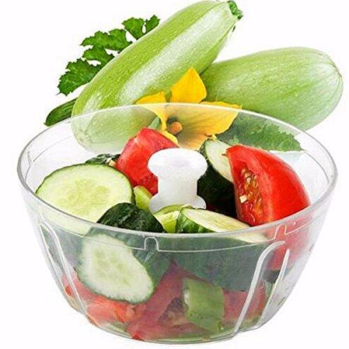 wiwanshop Vegetable Food Chopper Hand Speedy Veggie Meat Chopper Shredder Slicer Cutter