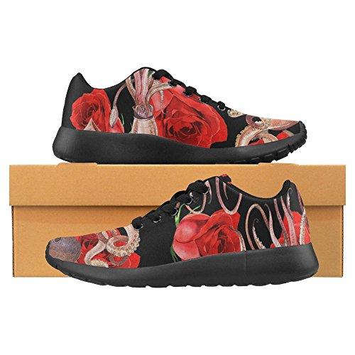 Scarpe Da Passeggio Per Donna Da Jogging Leggera Da Running Easy Easy Casual Da Sport Comfort Scarpe Da Corsa Calamari Polpo Rosa Fiore Multi 1