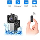 Waterproof Wifi Mini Spy Hidden Camera,ZZCP Full HD 1080P Portable Small Wireless Nanny Cam With Night Vision and Motion Detection,Perfect Covert Tiny Security Camera for Indoor and Outdoor