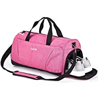 Sports Gym Bag with Shoes Compartment for Men and Women