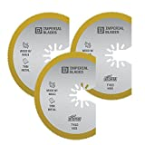 Imperial Blades IBOAT410-3 ONE FIT 3-1/8'' Titanium Enhanced Segmented Oscillating Saw Blade, 3PK