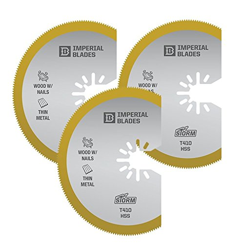 Imperial Blades IBOAT410-3 ONE FIT 3-1/8'' Titanium Enhanced Segmented Oscillating Saw Blade, 3PK by Imperial Blades (Image #4)