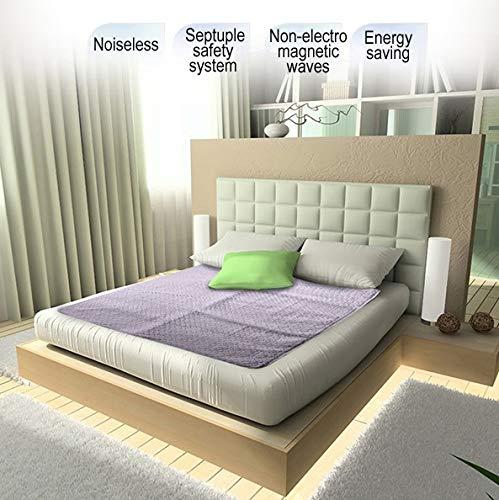 Euro Aqua Bed Warmer Non-Electric Heater Water Heating Mattress Pad (Queen Dual-Zone)