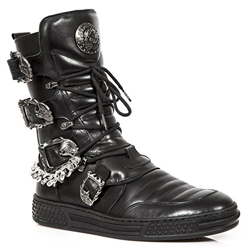 New Rock Pisa Schwarz Stiefel M.PS048-S1 BLACK, BLACK