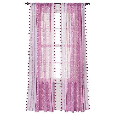 Xhilaration Tasseled Print Sheer Curtain Panel