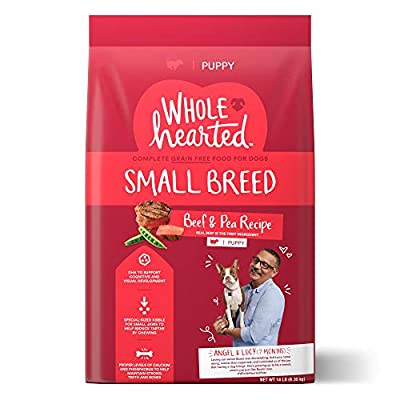 WholeHearted Grain Free Small Breed Beef and Pea Recipe Dry Puppy Food by WholeHearted
