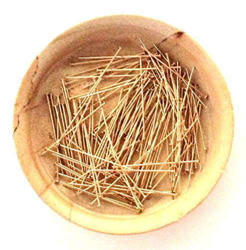 (50 Pieces 14Kt Gold Filled Head Pins 24 Gauge 1 inch)