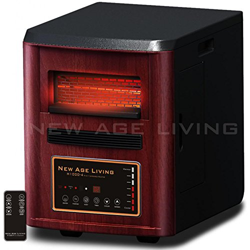New Age Living H1000-4 High Efficiency Quartz Infrared Heate
