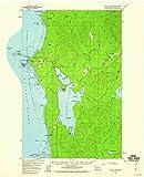 YellowMaps Ozette Lake WA topo map, 1:62500 Scale, 15 X 15 Minute, Historical, 1956, Updated 1960, 21 x 17 in