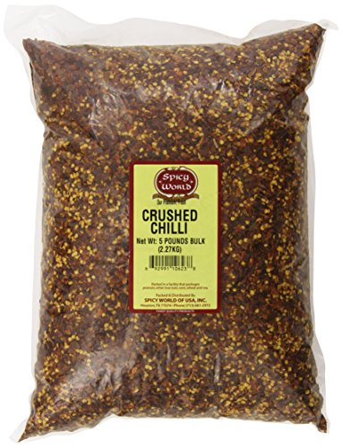Spicy World Crushed Red Pepper Bulk, 5-Pounds ()