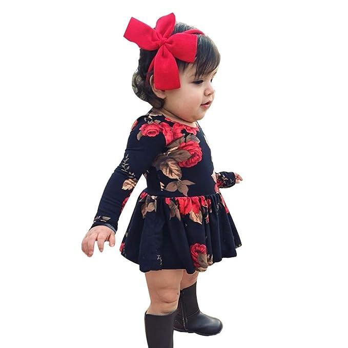 Toddler Kids Baby Girls Cartoon Floral Dress Princess Party Pageant Tutu Dresses