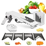 vegetable v slicer - Mueller Austria V-Pro 5 Blade Adjustable Mandoline Slicer – White/Grey