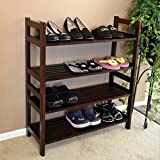 Veranda D-art Collection Great Shoe Rack with 4 Tier Shelf Dark Brown, Constructed From Solid Mahogany Wood, Sturdy and Good Looking, Wonderful Addition to Your Home. by DART
