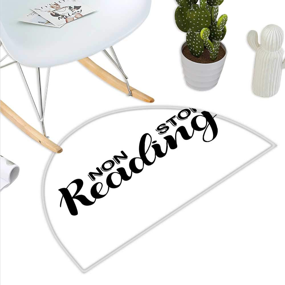 color07 H 43.3  xD 64.9  Book Semicircle Doormat Reading is Dreaming with Open Eyes Quotation Print on White Background Halfmoon doormats H 27.5  xD 41.3  Azure bluee Magenta Black