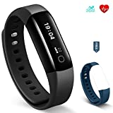Fitness Activity Tracker - YuanGuo Vigorun4 30M Swimming Waterproof Bluetooth Wireless Smart Bracelet Watch Pedometer Watch with Heart Rate monitor for iPhone iOS and Android