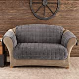 Sure Fit Deluxe Pet Cover  - Loveseat Slipcover  - Dark Gray (SF40823)