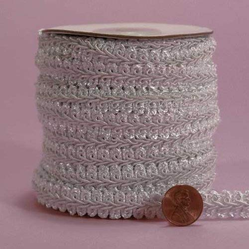 5//8X 10Yd White Gimp Braid Trim