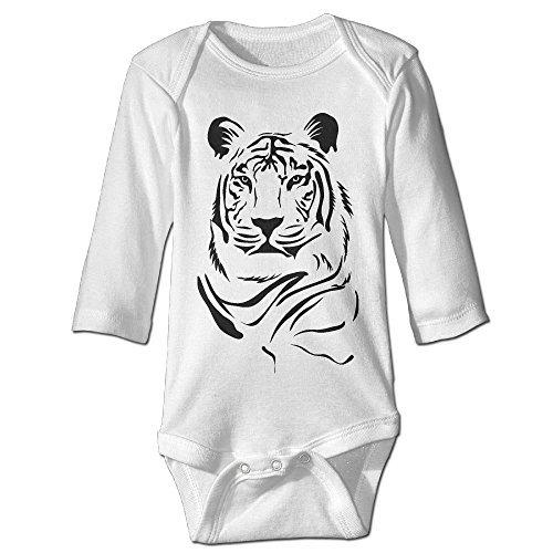 Unisex Tiger Portrait Logo Long-sleeve Bodysuit Onesies Clothes