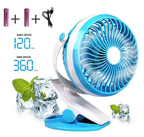 Solar Light Fan (White/Blue) - 3