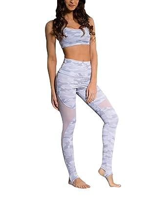 1a474be645380 Onzie Hot Yoga Stirrup Legging 2007 Grey Camo (Grey Camo, Small/Medium)