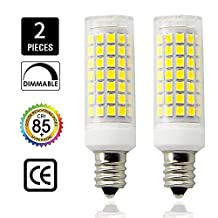 E12 LED, Dimmable Candelabra Base E12 Bulbs, ALL-NEW, 8.5Watt 850lm, equivalent 75W 80W 100W halogen bulbs replacement , pack of 2(Daylight White 6000K) (Daylight)