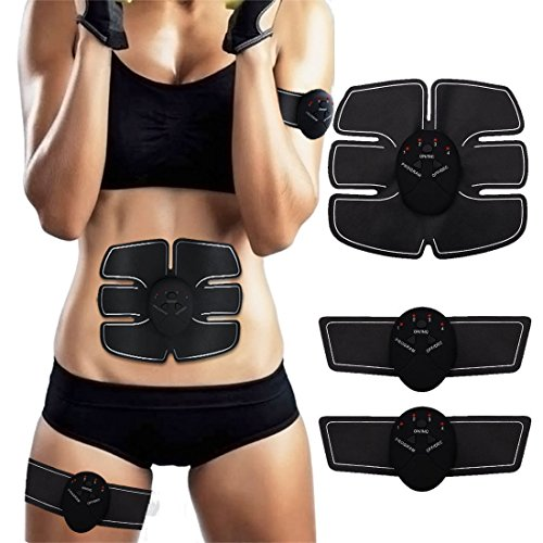 Abs Trainer SEEYC EMS Abdominal Muscle Stimulator Muscle Toning Belts Home...