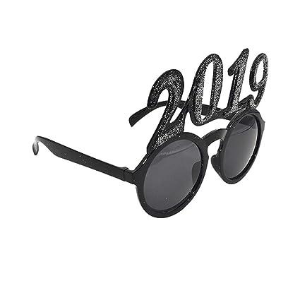 68a301c0e73ed Amazon.com  BESTOYARD Glitter 2019 Glasses New Year Photo Props ...