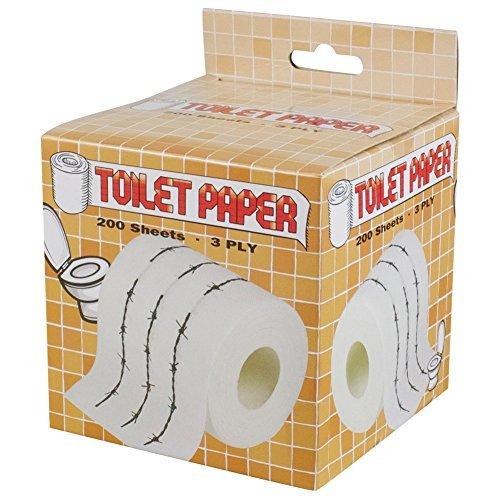 Barb Paper - New Barb Wire Design Toilet Paper Roll Tissue Prank Joke Gag Gift