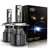Automotive : Cougar Motor H4 LED Headlight Bulbs, 9003 High/Low All-in-One Conversion Kit, 10000 Lumen (6000K Cool White) - Adjustable Beam Pattern