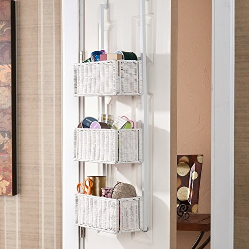 Harper Blvd Burnet White Over-the-Door 3-tier Basket Storage