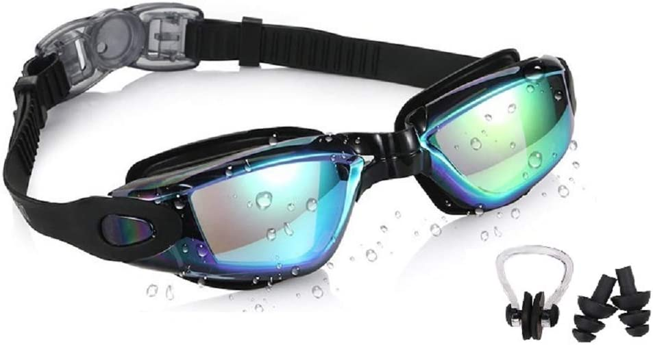 Multiple Choice Swimming Goggles Anti Fog Shatterproof UV Protection No Leaking Swimming Gear for Adult Men Women Youth Kids Child OTTER Easy Fit Triathlon Swim Goggles Black