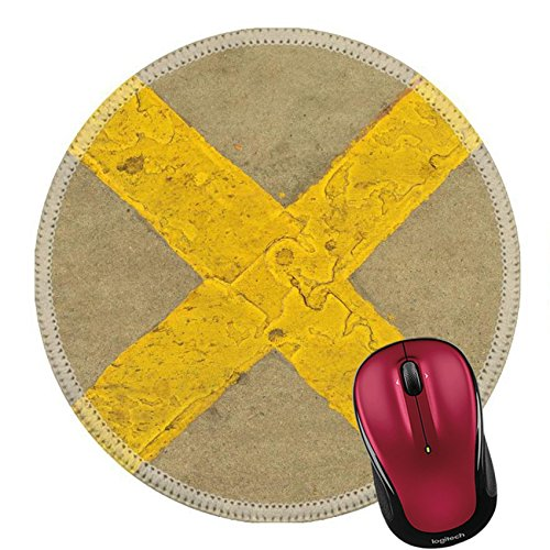 Concrete Parking Pad (Liili Round Mouse Pad Natural Rubber Mousepad Abstract background of prohibited parking area on the street Photo 20777990)