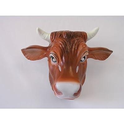 Visage pour déguisement de vache masque bovin avec cornes Déguisement de taureau bœuf carnaval