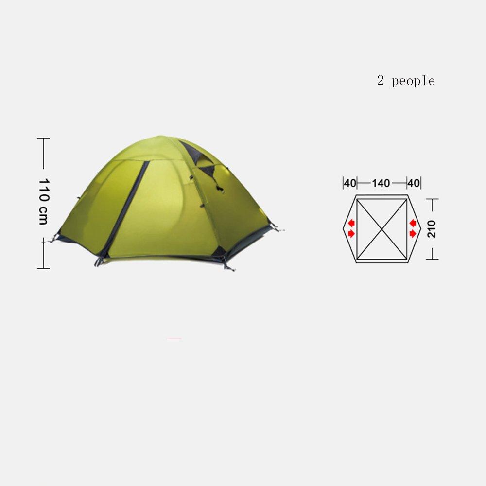 QFFL zhangpeng Zelt Breathable Double Double Double DREI-Aluminium-Pole Zelt Outdoor Camping Zelt 4 Farben Optional Tunnelzelte B07CRD2JBB Eisangeln Flut Schuhe Liste 6a9dee