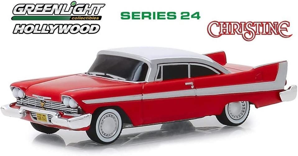 diecast Christine-1958 Plymouth Fury Evil Version-blacked out windows 1:24 scale